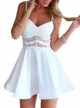 Mini Skater Party Dress - Peek-a-Boo Lace Trim / Exposed Silver Zipper image 5