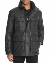 SAM New York Men's Cargo Waxed Cotton Field Jacket Coat Carbon Black M $595 - $296.99