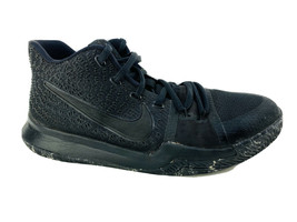 Nike Kyrie Irving 3 GS Marble Triple Black Size 7Y Shoes 859466-005 2017 7 Youth - $37.57