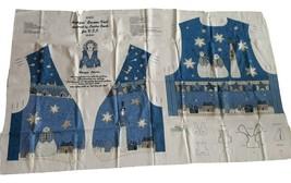 CIP Freezing Season Vest Fabric Sewing Panel Adults S M L XL Blue - $13.09