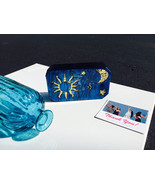 Navy Blue Moon and star acrylic vintage clutch - $65.99