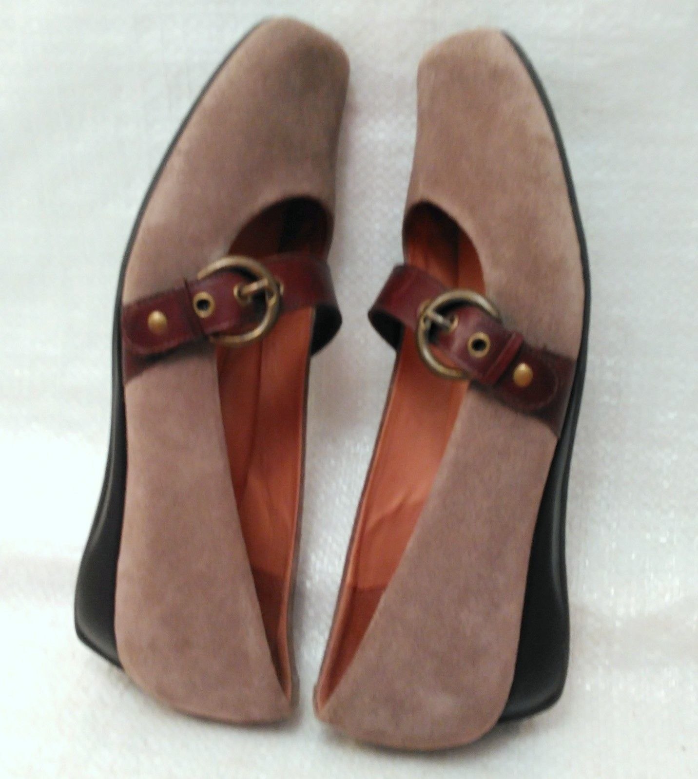 Nurture Women's Shoes 8 M Suede Leather Upper w/ Buckle Model Hymn
