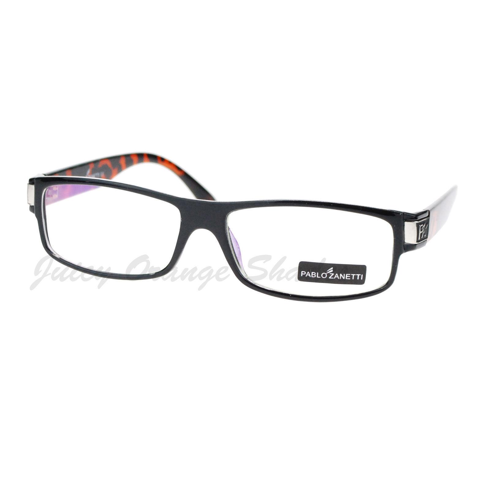 Pablo Zanetti Mirrored Clear Lens Glasses Rectangle Frame 57-18-131