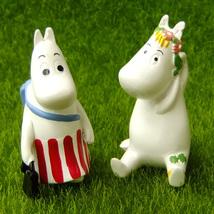 2 Moomin Fairy Garden Terrarium Shelf Decor Action Figure Comic Characte... - $10.99