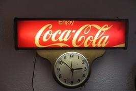 antique lighted coca-cola clock soda pop original working very old coke ... - $1,485.00