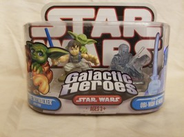 STAR WARS GALACTIC HEROES LUKE SKYWALKER With Yoda and Spirit of OBI-WAN... - $9.41