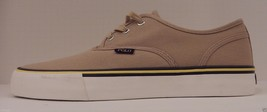 GENUINE POLO RALPH LAUREN MENS SIZE 11D TAN CANVAS FASHION SNEAKER / BOA... - $48.50