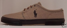 GENUINE POLO RALPH LAUREN MENS SIZE 16D KHAKI LIGHT BROWN CANVAS FASHION... - $48.50