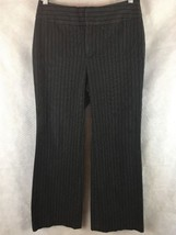 BANANA REPUBLIC Women's Harrison Fit Black Career Pants w/ Pinstripes Sz 4 - $14.80