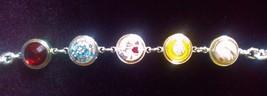 "Silver Bracelet 9"" 5 Holes   Fits Ka..... Pops   Buy Price Bonus - $14.50"