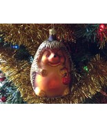 Blown glass cute Hedgehog  hand painted ornament made in Germany - $34.64