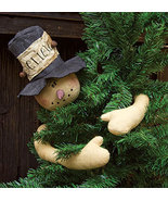 Rustic Holiday Snowman Tree Topper/Huger Primitive Christmas Holiday Dec... - $39.99