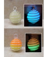 GLOW IN THE DARK 2 Color Spiral Silver Caged Materia Magic Orb Pendant N... - $16.00