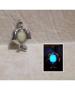 GLOW IN THE DARK Kissing Dolphin Couple Silver Locket Charm Necklace Cut... - $14.50