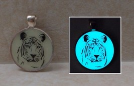 TIGER Glow in the Dark Silhouette Pendant Charm Necklace Big Cat Nature ... - $14.50