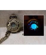 GLOW IN THE DARK Alice in Wonderland Fantasy Filigree Locket Pendant Nec... - $14.95