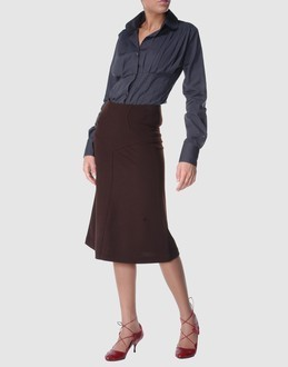 DIANE von FURSTENBERG BING CHOCOLATE  SKIRT - US 12 - UK 16