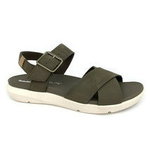 Timberland Women's Wilesport Olive Green Leather Strap Sandals A1TSW - $56.99