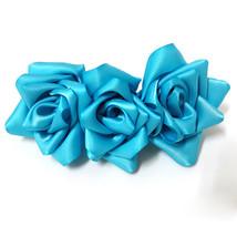 OOAK hair clip - Roses 2016091601 handmade Barrette Hair Clip - $11.87