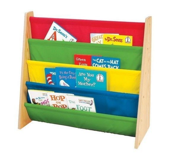 Child book rack kid shelf bookcase bedroom storage for Book rack designs for bedroom