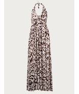 DIANE von FURSTENBERG FRANZ WHITE/CHOCOLATE LONG GOWN - US 2 - UK 6 - $140.33