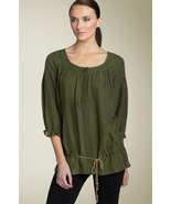 DIANE von FURSTENBERG HORI OLIVE TOP BLOUSE - US 8 - UK 12 - $96.59
