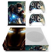 Iron Man decal xbox one S console and 2 controllers - $15.00