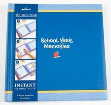 HALLMARK SCHOOL YEAR MEMORIES INSTANT MEMORY BOOK PHOTO ALBUM SCRAPBOOK ... - $22.71
