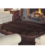 Quad Bowron Sheepskin Pelt Rug Dark Brown - $339.00