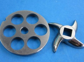 "#8 X 5/8"" Disc Plate & Knife Set Meat Grinder Grinding Stainless Steel - $24.26"