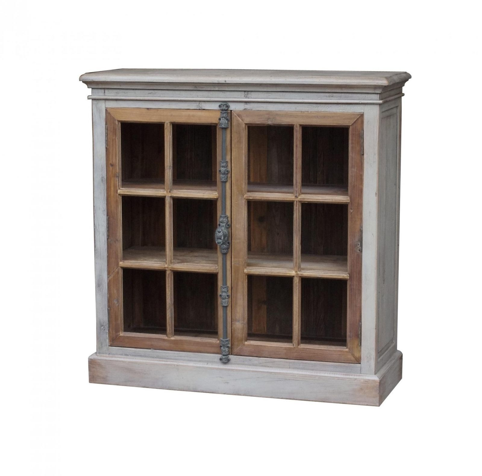 Restoration hardware style french casement glass door display console cabinet cabinets cupboards - Restoration hardware cabinets ...