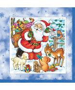 20 pcs Paper Napkins for Decoupage, Collage - Christmas Theme with Santa... - $13.99
