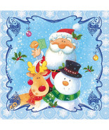 20 Paper Napkins for Decoupage, Collage, Christmas theme with Santa Clous  - $13.99