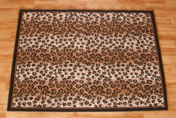 Leopard Print Area Rug 5ft x 8ft
