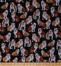 Bulldogs Dogs Puppy Puppies Pets Animals Cotton Fabric Print by the Yard... - $11.49