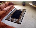 Leopard border print rug  10319 thumb155 crop
