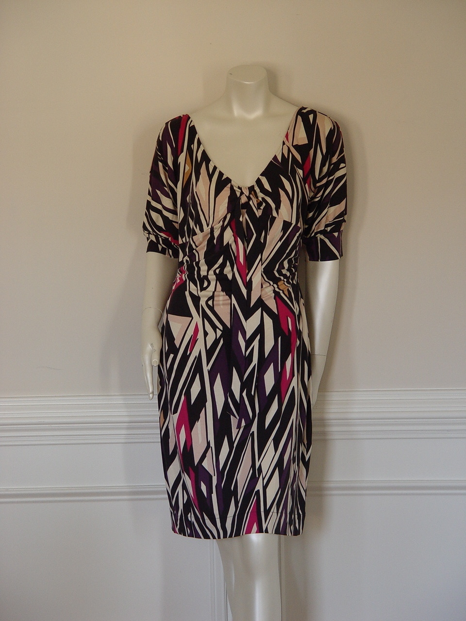 DIANE von FURSTENBERG KITT COTTON CLUB DRESS - US 12 - UK 16