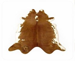 Hereford Brown Natural Brazilian Cowhide Rug X-Large 41 to 46 s.f. - $289.00