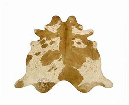 Palomino and White Cloud Brazilian Cowhide Rug X-Large 41 to 46 s.f. - $289.00