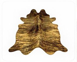 Medium Brown Brindle Brazilian Cowhide Rug Medium 32 to 36 s.f. - $249.00
