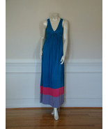 DIANE von FURSTENBERG KIWANA TEAL/HOT PINK/LILAC LONG GOWN - US SMALL - $148.86