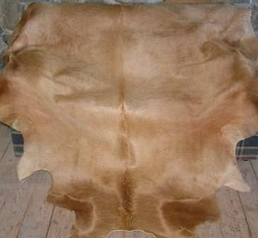 All Caramel Brazilian Cowhide Rug X-Large 41 to 46 s.f.