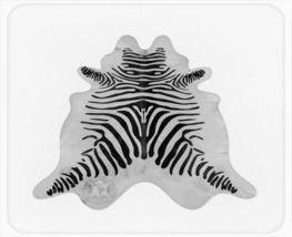 Zebra Print Cowhide Standard Black on Off White - $329.00