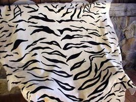 Tiger Print Cowhide Standard Siberian Black and Off White - $329.00