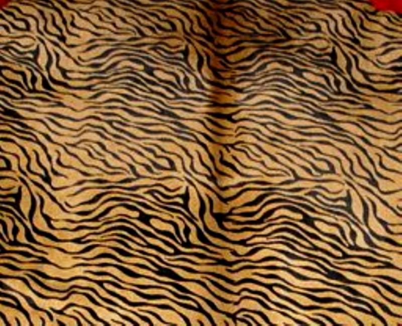 Zebra Baby Print Cowhide  Black on Caramel