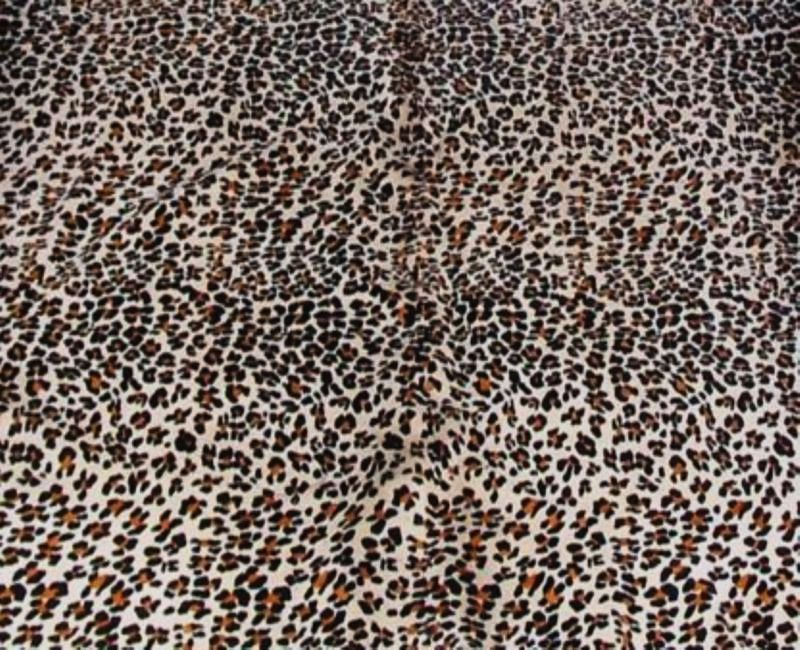 Jaguar Print Cowhide on Off White