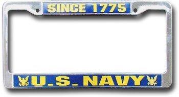 Navy license plate frame 10081