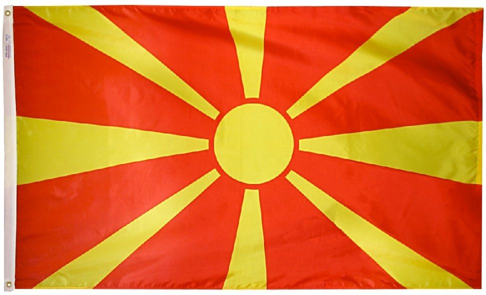 North Macedonia, Republic of - 2'X3' Nylon Flag