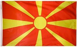 North Macedonia, Republic of - 2'X3' Nylon Flag - $38.40