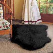 Single Bowron Sheepskin Pelt Rug Black - $99.00